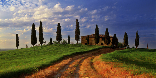 Val d'Orcia 的別墅,Mark Wassell拍攝